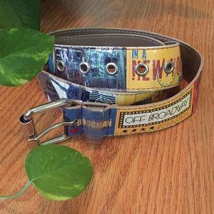 Retro vintage New York belt